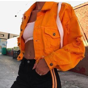 LF cropped denim jacket